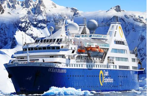 <海钻石号邮轮>阿根廷+南极'海钻石'号经典16天行程 布宜升级五星